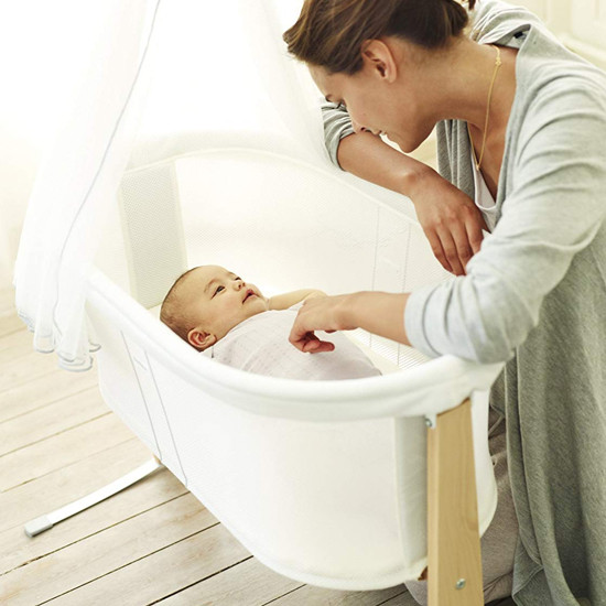 BabyBjorn Baby Cradle Harmony - White Lifestyle Product Photo