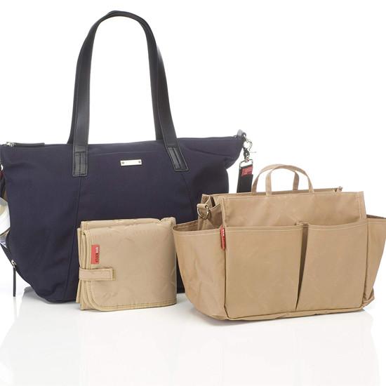 Storksak Noa Luxe Changing Bag - Midnight Blue Inside