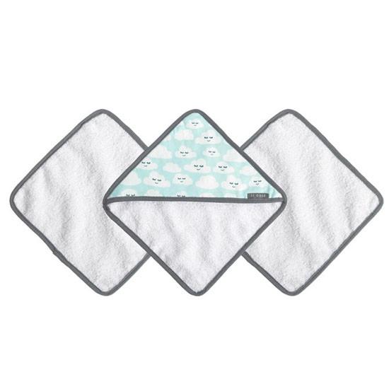 JJ Cole Washcloth Set - Cloud 9 (Cloudy Smile) Product