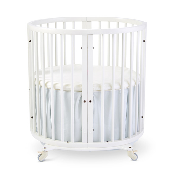 Stokke Sleepi Mini Bed Skirt - Mist by Pehr