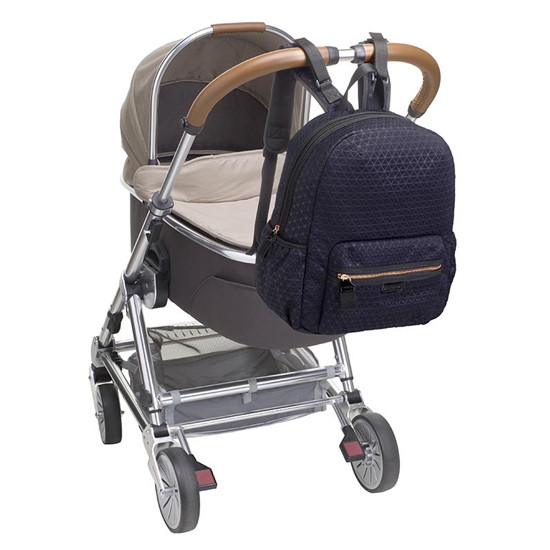 Babymel Luna Ultra Lite Scuba - Navy on stroller Product Photo