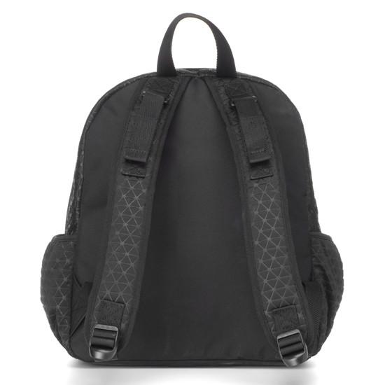 Babymel Luna Ultra Lite Scuba Diaper Backpack - Black Back Product Photo