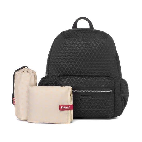 Babymel Luna Ultra Lite Scuba Diaper Backpack - Black includes Product Photo