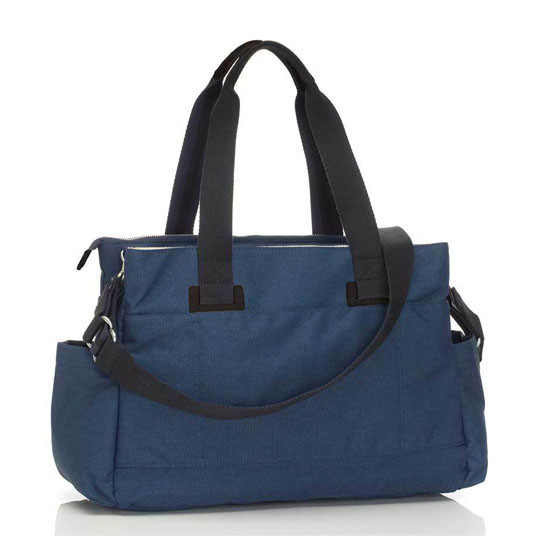 Storksak Travel Collection Shoulder Diaper Bag - Navy Back with adjustable Strap