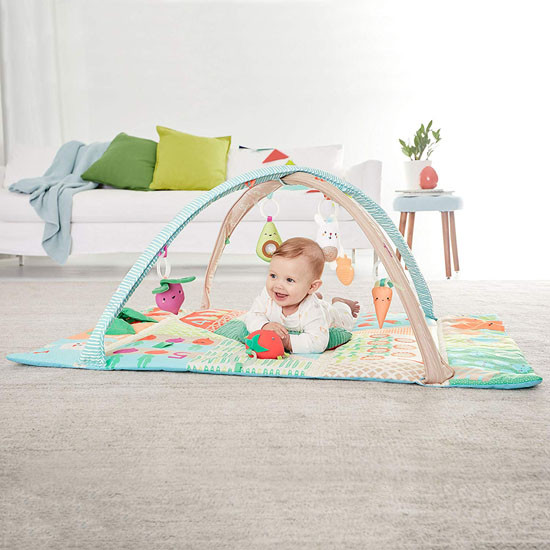 Skip Hop Farmstand Grow & Play Activity Gym is for Ages 0+