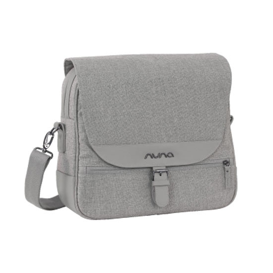 Nuna Diaper Bag - Frost with adjustable straps