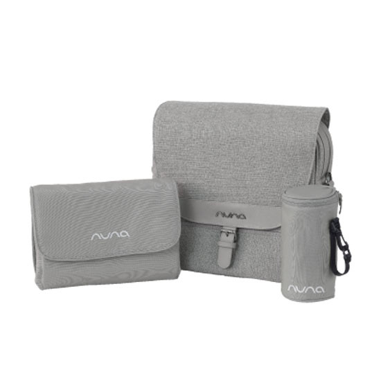 Nuna Diaper Bag - Frost comes with accessories