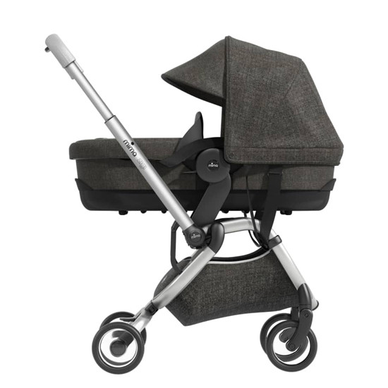 Mima Zigi Carrycot - Charcoal on stroller Product Photo