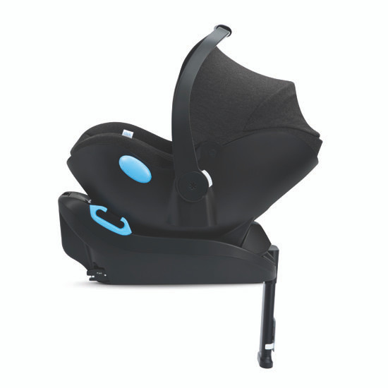 Clek Liing Infant Car Seat - Slate Side View with Base