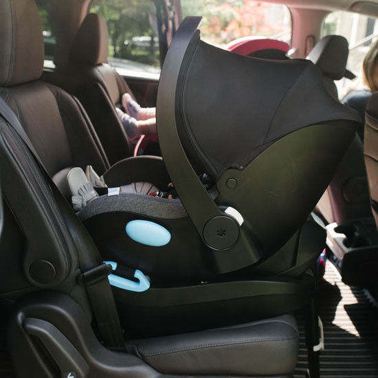 Clek Liing car seat and base in a car