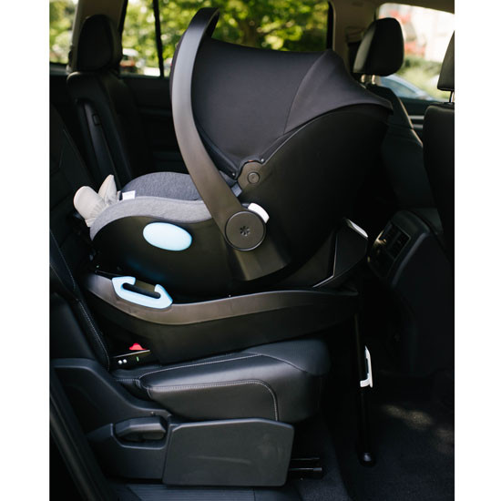 Clek Liing Infant Car Seat -  Slate base is backfacing