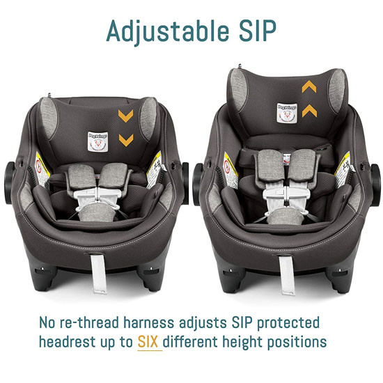 Peg Perego Primo Viaggio 4-35 Nido Infant Car Seat - Agio Grey with adjustable SIP