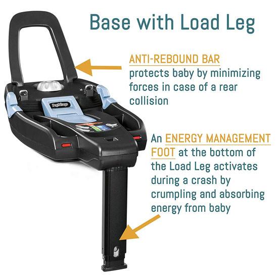 Peg Perego Primo Viaggio 4-35 Nido Infant Car Seat - Agio Grey Base with Load Leg Description