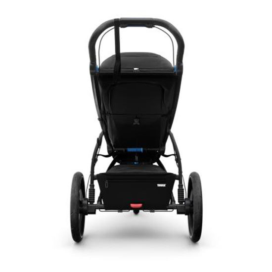 Thule Urban Glide 2 Single Jogging All-Terrain Stroller - Black Back