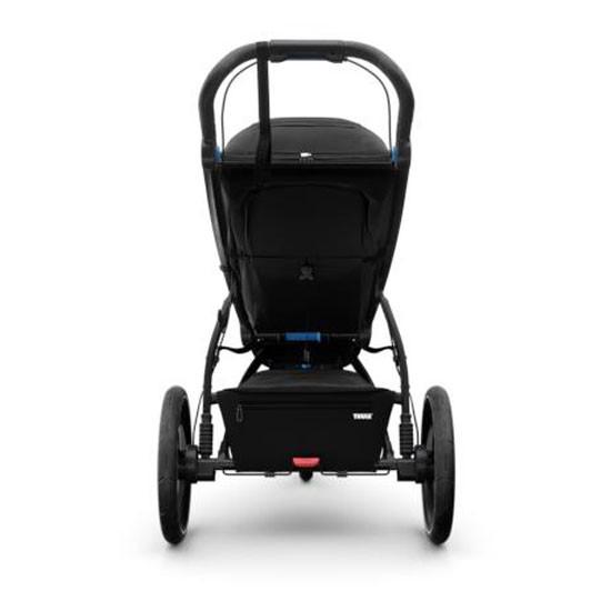 Thule Urban Glide 2 Single Jogging All-Terrain Stroller - Black Back