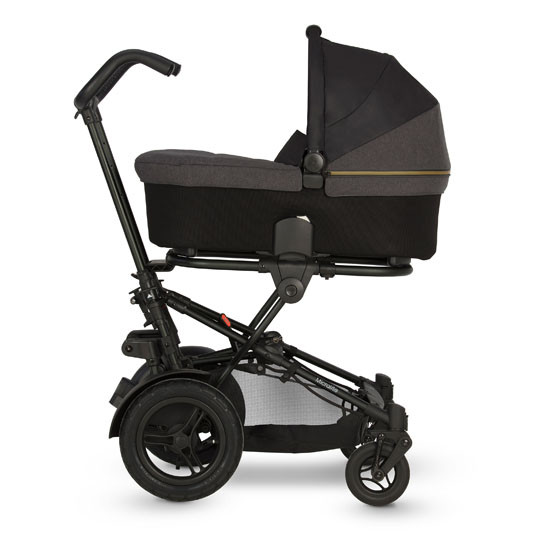 Micralite TwoFold Stroller - Carbon Front with bassinet