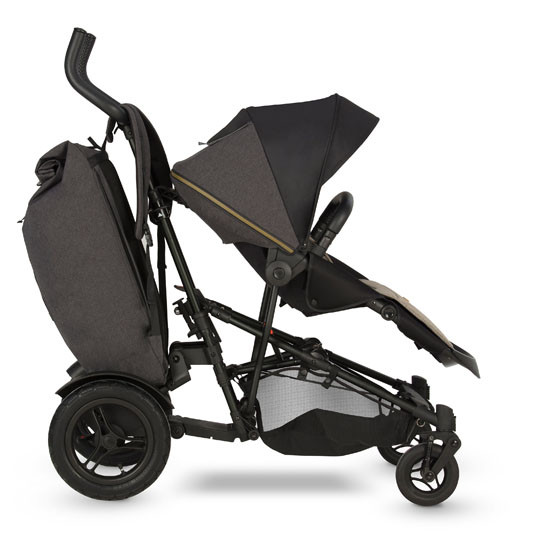 Micralite TwoFold Stroller - Carbon Front with  40lb bag
