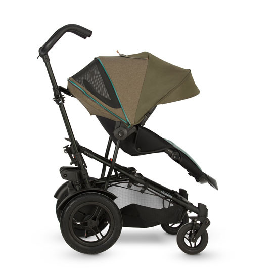 Micralite TwoFold Stroller - Evergreen with second recline position