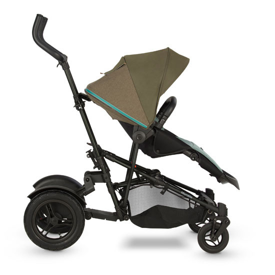 Micralite TwoFold Stroller - Evergreen recline with kid board