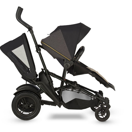 Micralite TwoFold Tandem Second Seat - Black with Carbon Stroller