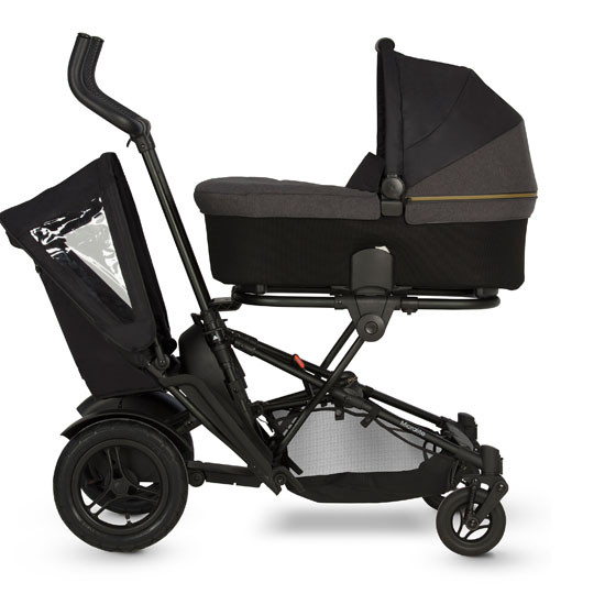 Micralite TwoFold Tandem Second Seat - Black with Bassinet