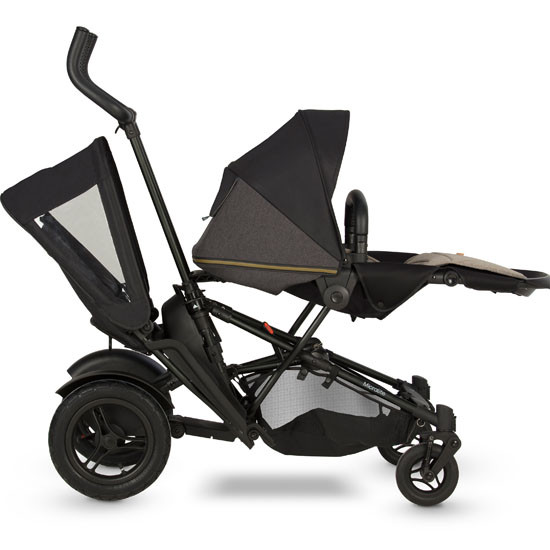 Micralite TwoFold Tandem Second Seat - Black with full recline seat