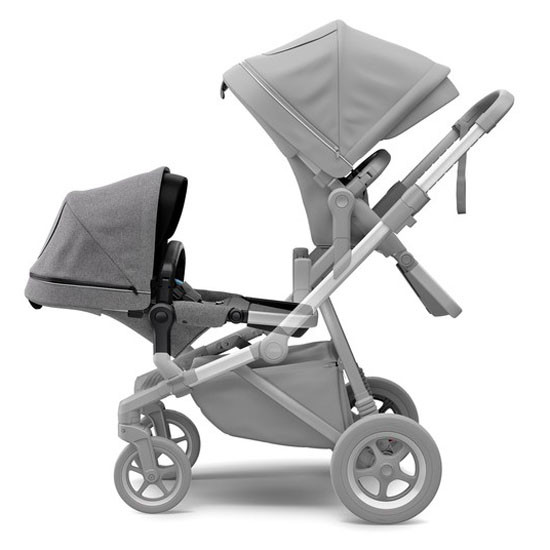Thule Sleek Sibling Seat - Grey Melange