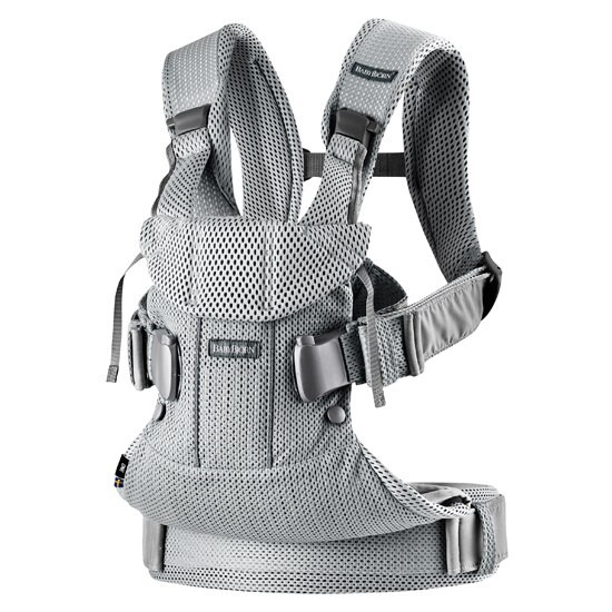 2018 Baby Bjorn Baby Carrier One Air - Silver Mesh