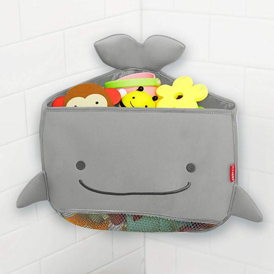 Skip Hop Moby Corner Bath Toy Organizer - Grey_thumb1_thumb2