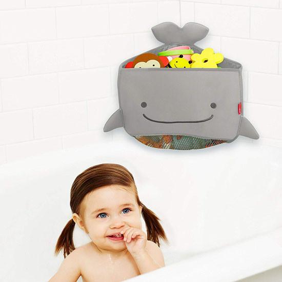 Skip Hop Moby Corner Bath Toy Organizer - Grey_thumb3