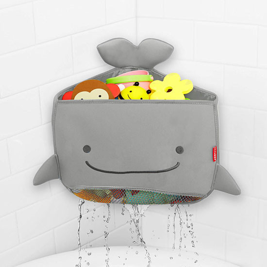 Skip Hop Moby Corner Bath Toy Organizer - Grey_thumb4