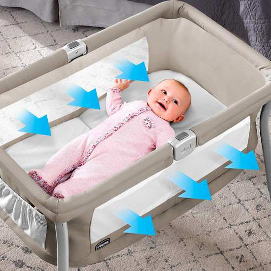 Chicco Lullago Travel Crib - Sand_thumb1_thumb2