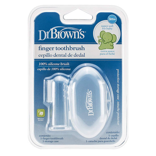 Dr Brown's Silicone Finger Toothbrush with Case Product