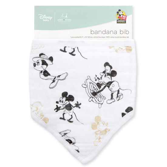 Aden + Anais Classic Bandana Bib - Mickey's 90th packaging
