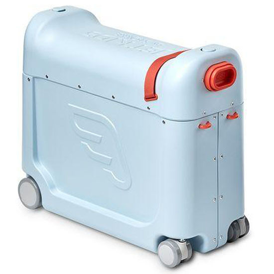 JetKids Bed Box by STOKKE - Ride-On Carry-On Suitcase V2 - Blue Sky