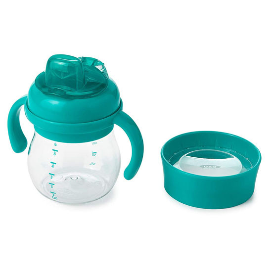 OXO Tot Transitions Soft Spout Training Cup Set 6 oz - Teal_thumb1_thumb2