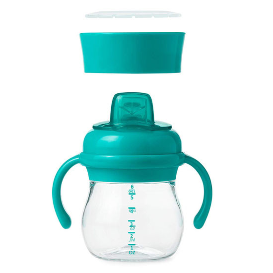 OXO Tot Transitions Soft Spout Training Cup Set 6 oz - Teal_thumb3