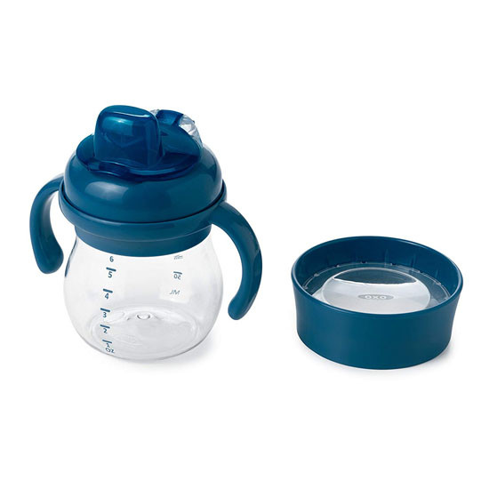 OXO Tot Transitions Soft Spout Training Cup Set 6 oz - Navy_thumb1_thumb2
