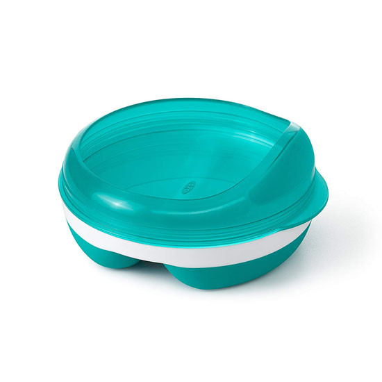 OXO Divided Feeding Dish - Teal_thumb1_thumb2
