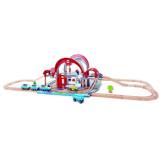 Hape Grand City Station Railway Playset