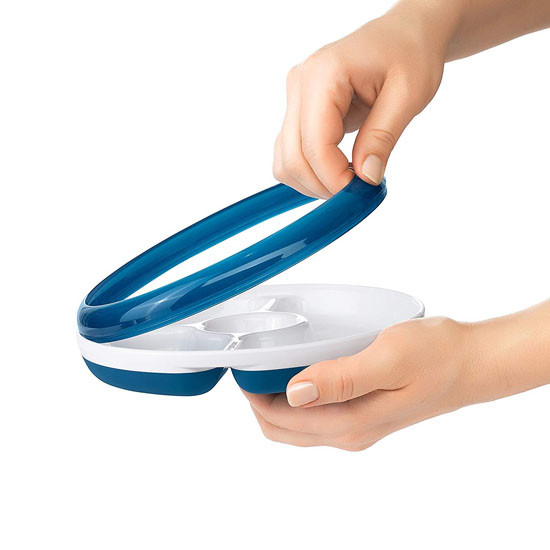 OXO Divided Plate - Navy_thumb3