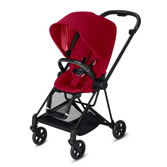 CYBEX 2019 MIOS 2 Complete Stroller Matte Black - True Red_thumb1