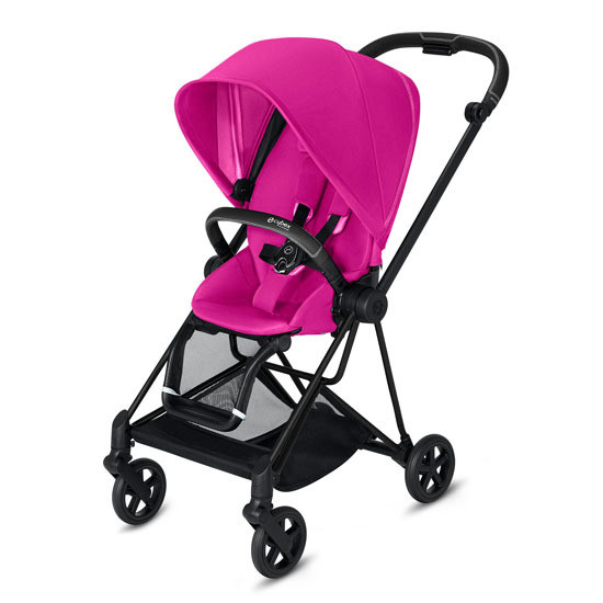 CYBEX 2019 MIOS 2 Complete Stroller Matte Black with Pink Seat