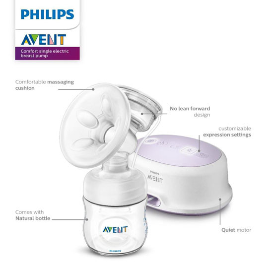 Philips Avent Single Electric Breast Pump - SCF332/21_thumb1_thumb2