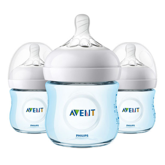 Philips Avent Natural Baby Bottle - 4oz (3 Pack) Blue_thumb1