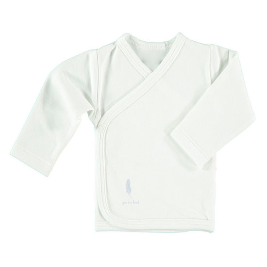 Pure Baby Preemie Long Sleeve Kimono Top - Blue Feather Product