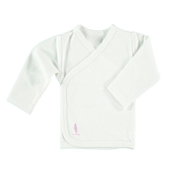 Pure Baby Preemie Long Sleeve Kimono Top - Pink Feather