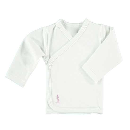 Pure Baby Preemie Long Sleeve Kimono Top - Pink Feather Product