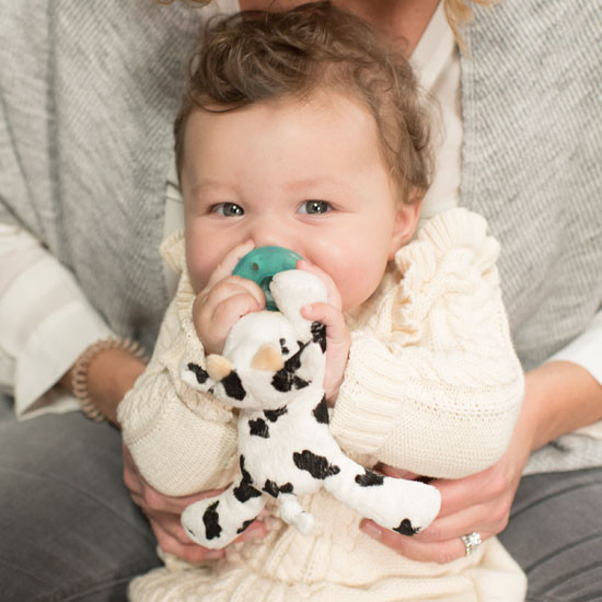 WubbaNub Plush Pacifier - Baby Cow