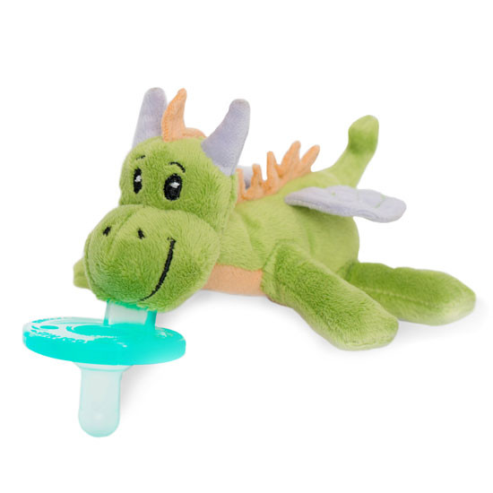 WubbaNub Plush Pacifier - Fairytale Green Dragon_thumb1_thumb2